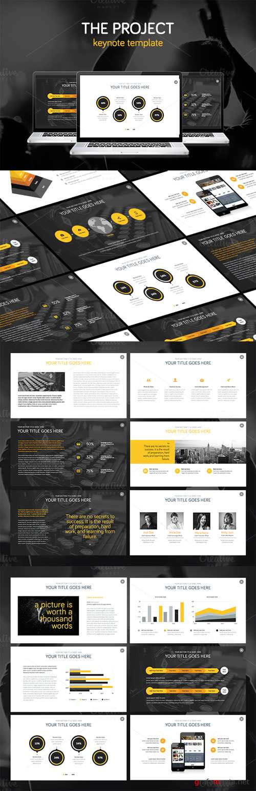 CreativeMarket - THE PROJECT - Keynote Template 68447
