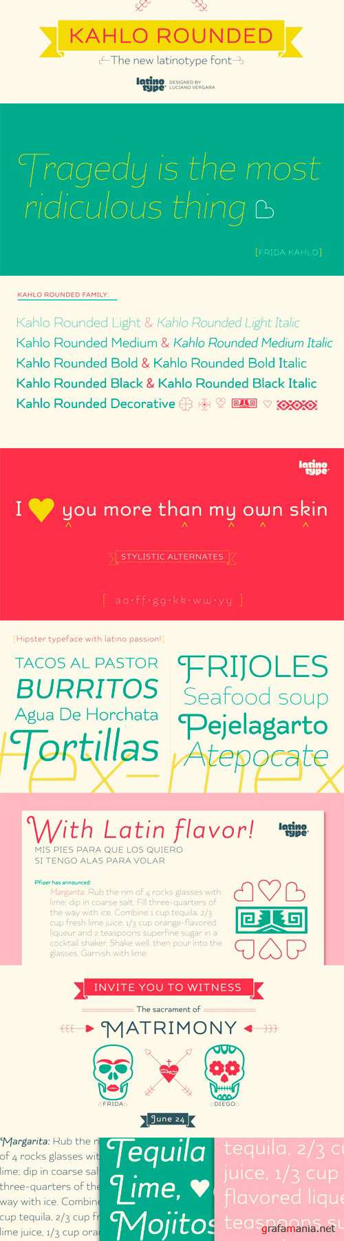 Kahlo Rounded Font Family