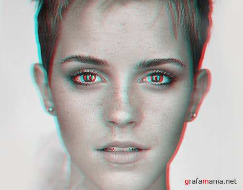 Anaglyph 3D Action - CreativeMarket 29075