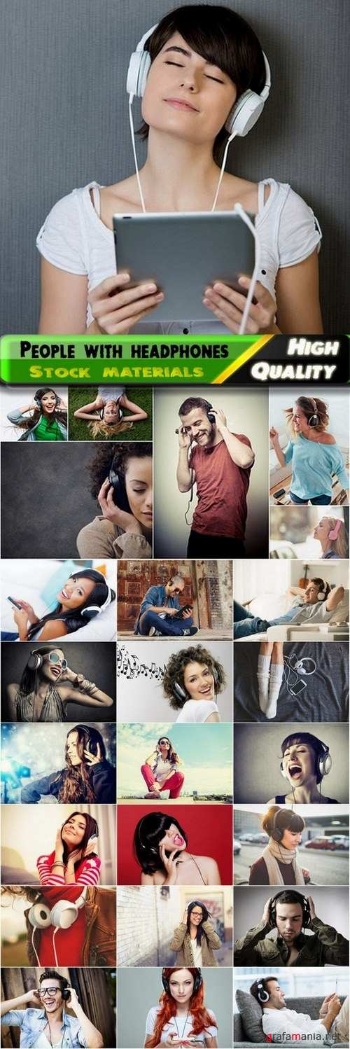 People with headphones Stock images - 25 HQ Jpg