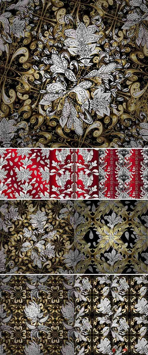 Stock Abstract beautiful background, royal, damask ornament, vintage
