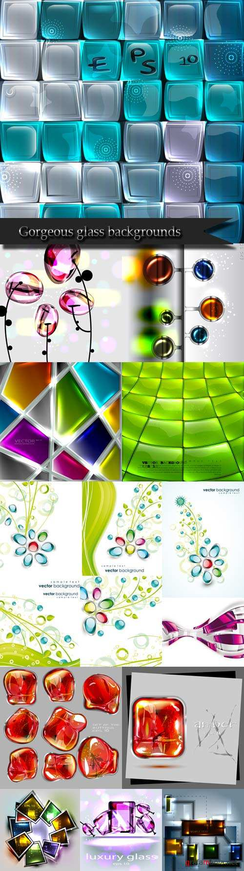 Gorgeous glass backgrounds