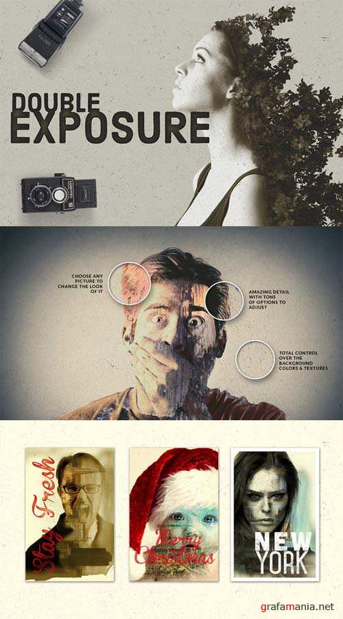 CreativeMarket Double Exposure Photo Effects Kit