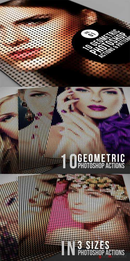 CreativeMarket 10 Geometric Photoshop Actions 01