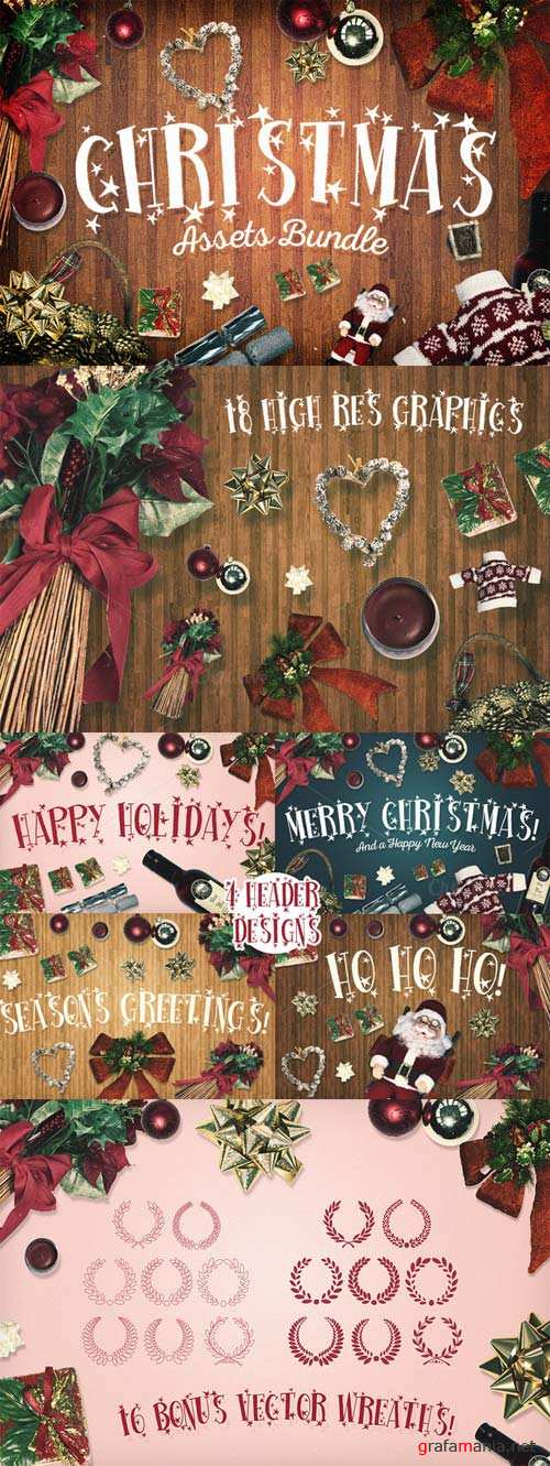 CreativeMarket Christmas Assets Bundle