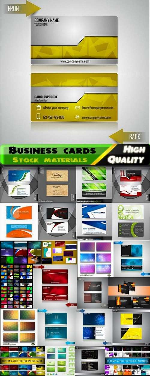 Business cards Template design in vector from stock #17 - 25 Eps