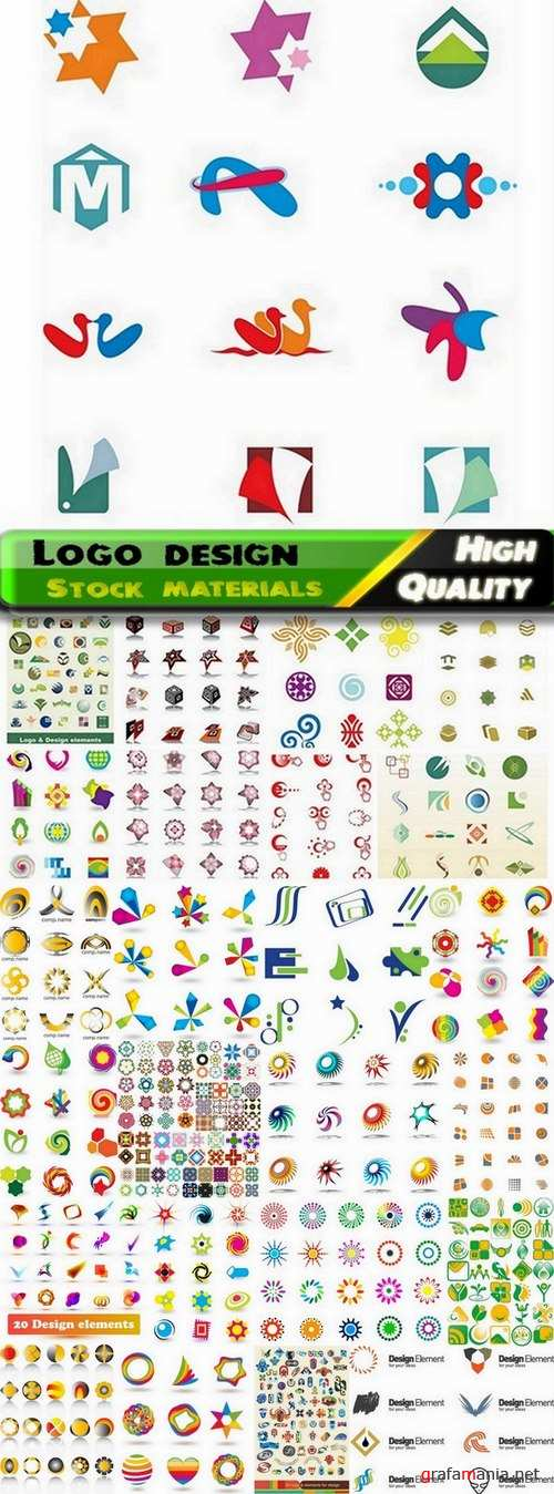 Logo Design in vector Set from stock #48 -  25 Eps