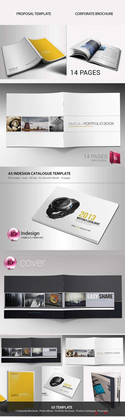 Indesign Brochure Bundle