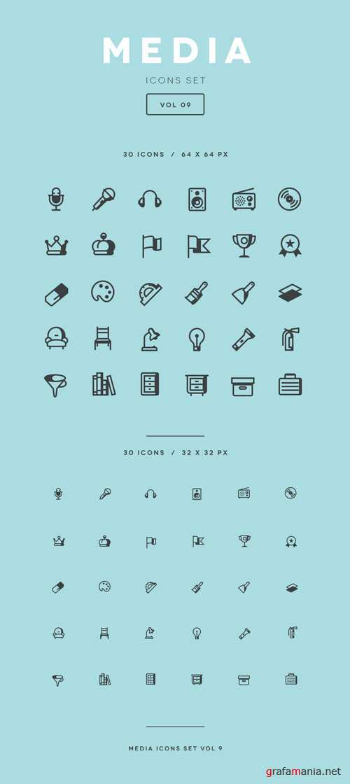 Media Icon Set Vol9