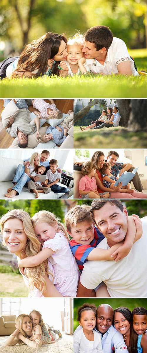 Stock Photo Portrait of happy family
