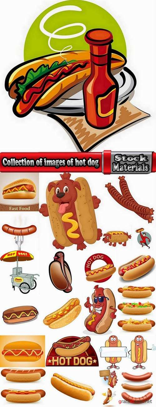 Collection of images of hot dog vector images 24 Eps