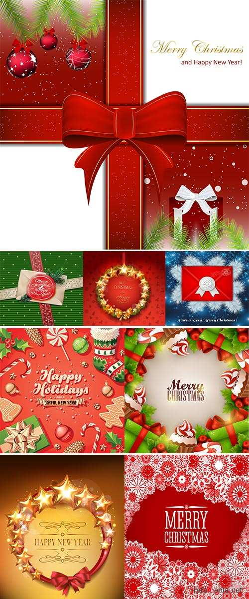 Stock Christmas greeting card with the christmas decoration