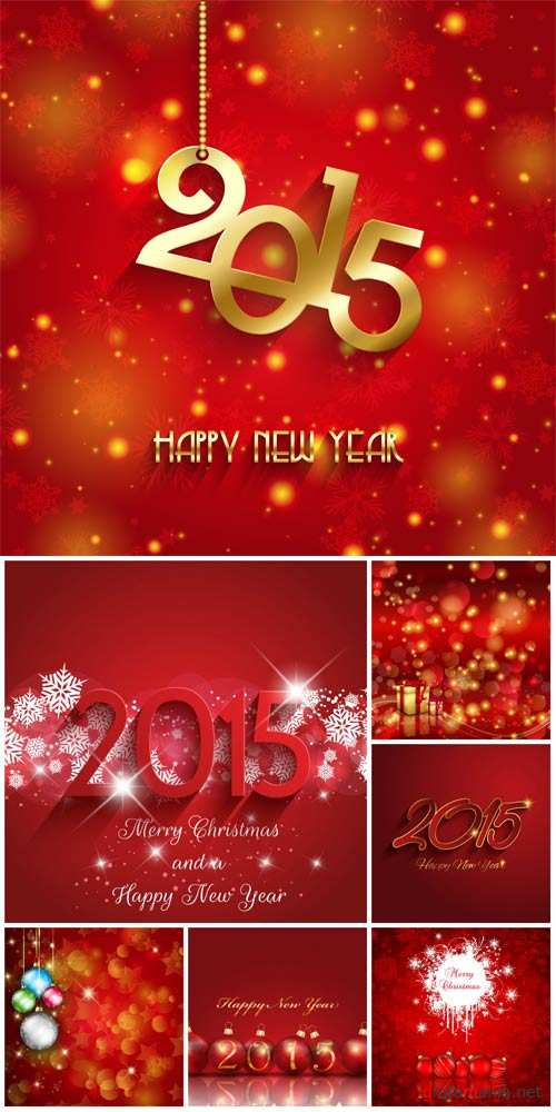 Christmas, New Year 2015, vector backgrounds