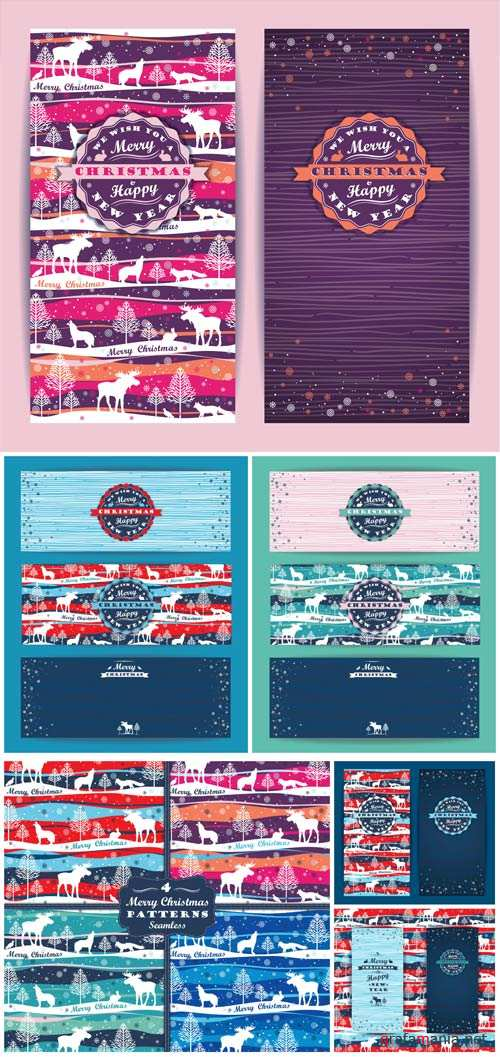 Christmas, New Year, vintage winter background vector