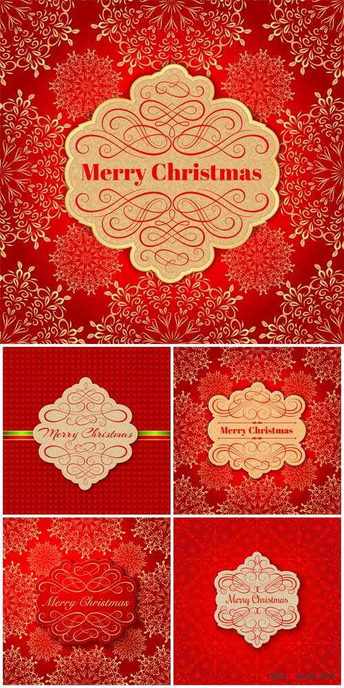 Christmas, new year, festive red backgrounds vector