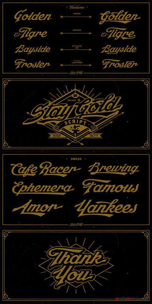 Stay Gold Font