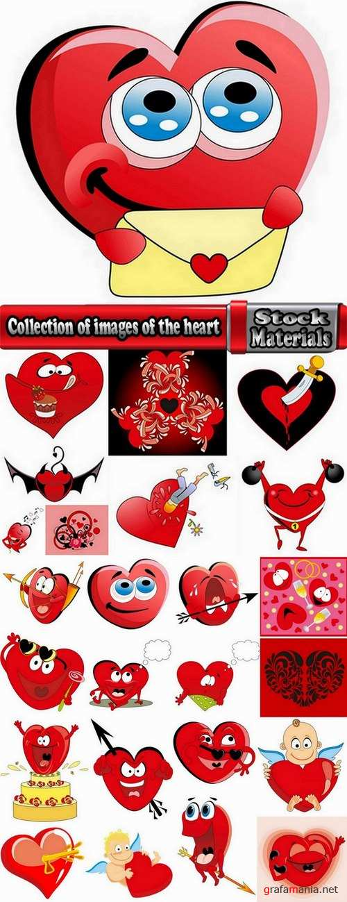 Collection of images of the heart vector image #2-25 Eps