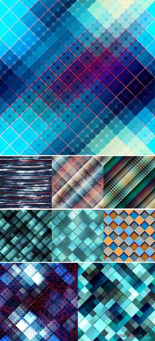 Stock Seamless background pattern, Abstract geometric blue pixels pattern