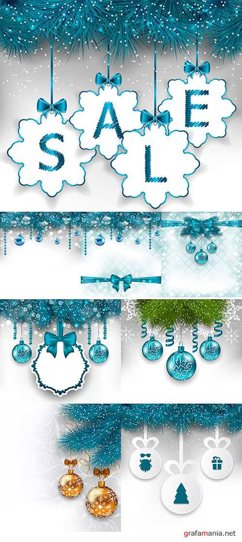 Stock Illustration light background with Christmas traditional elements - vector