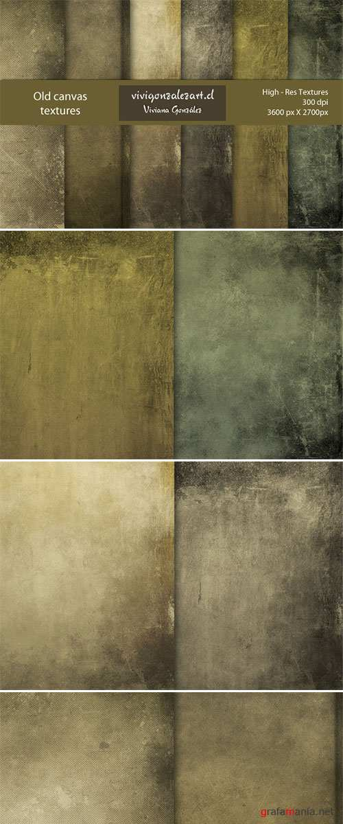 Old canvas textures
