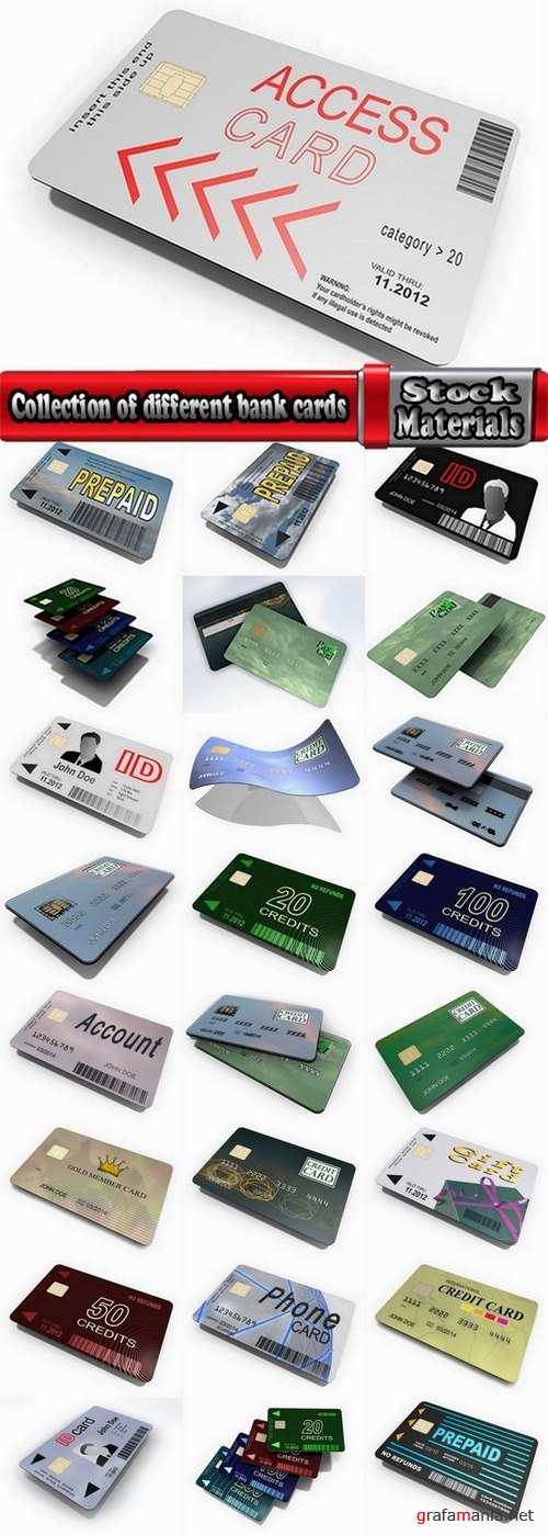 Collection of different bank cards #2-25 UHQ Jpeg