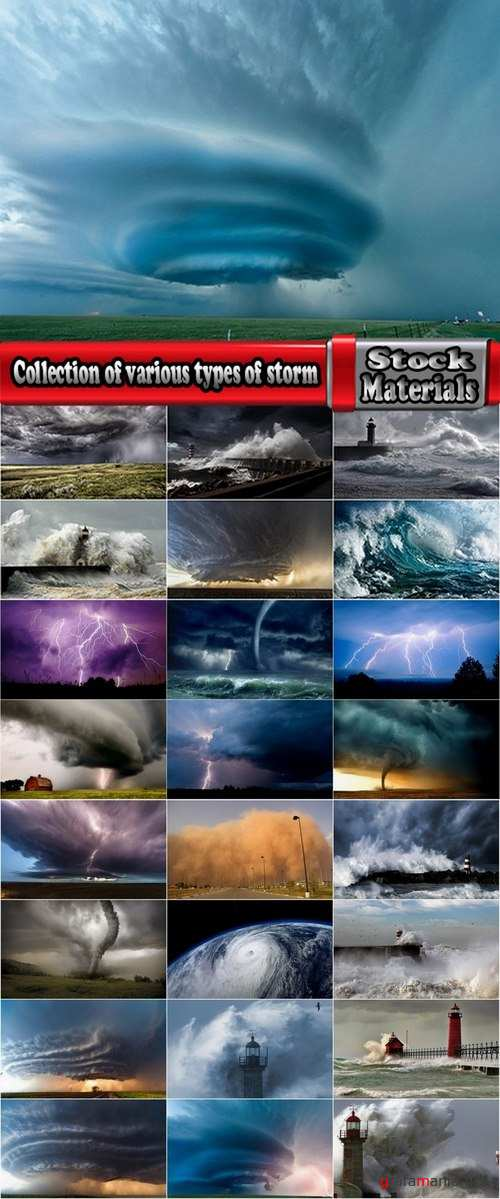 Collection of various types of storm 25 UHQ Jpeg