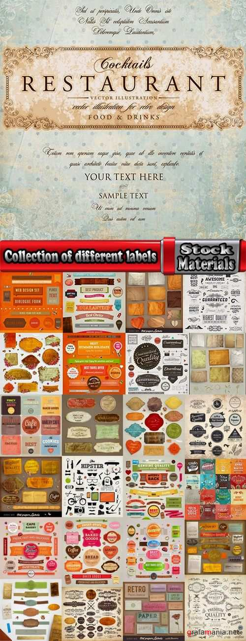 Collection of different labels #5-25 Eps