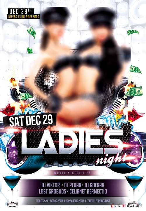 PSD Template - Ladies Night Flyer