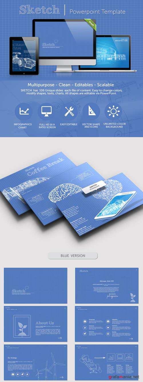GraphicRiver Sketch PowerPoint Presentation Template