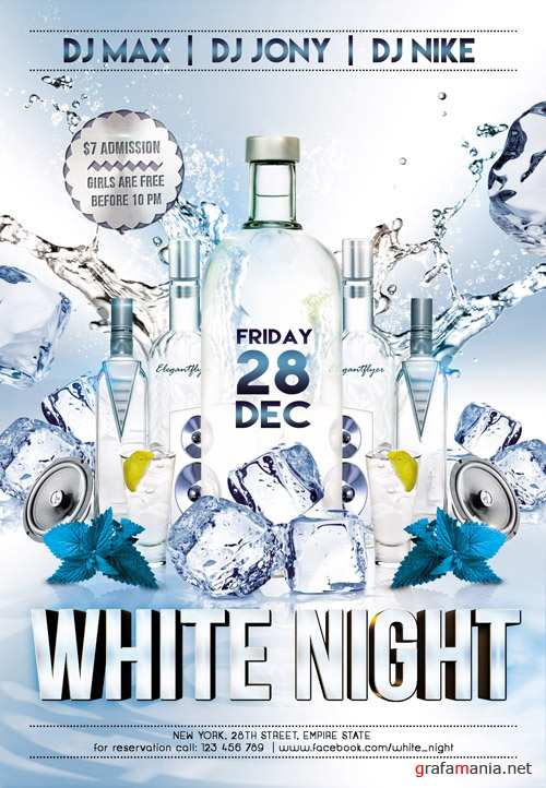 PSD Template - White Night Club Flyer