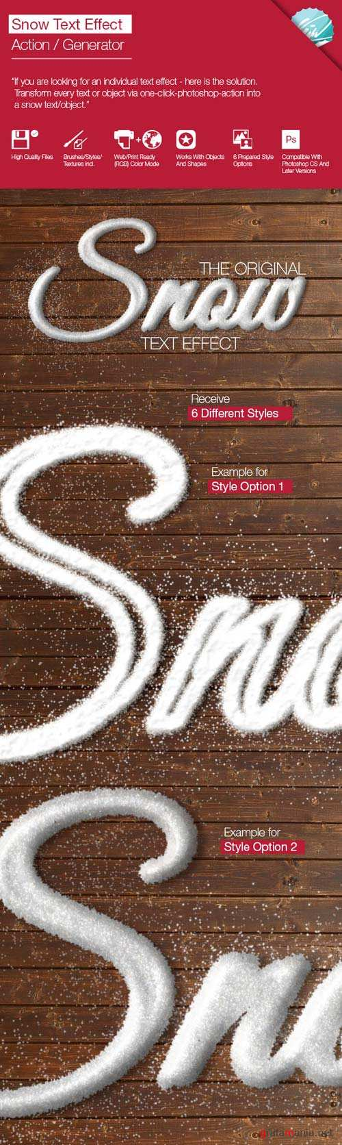 GraphicRiver Snow Text Effect / Generator