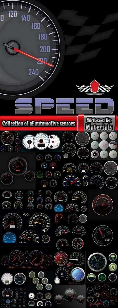 Collection of of automotive sensors 25 Eps