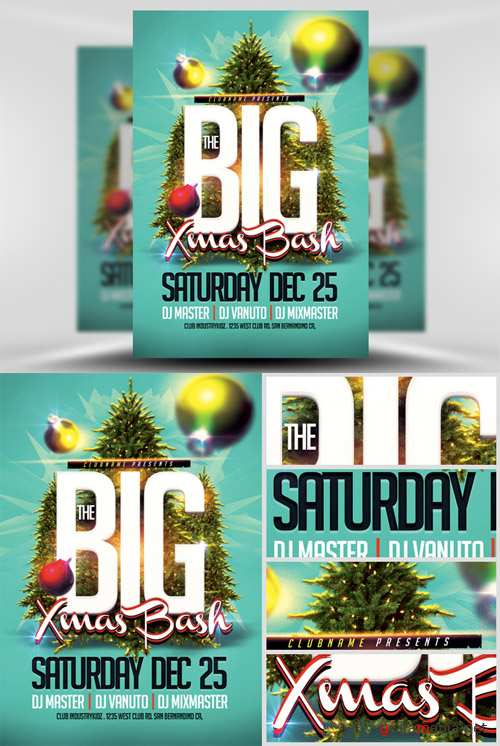 The Big Xmas Bash Party Flyer Template