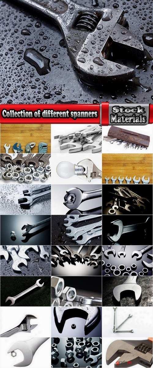 Collection of different spanners 25 UHQ Jpeg
