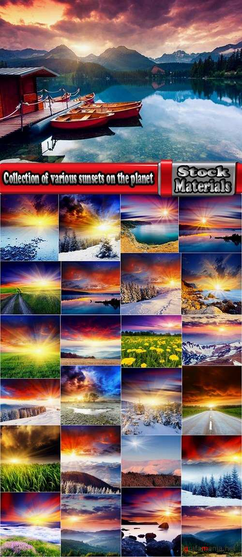 Collection of various sunsets on the planet #2-25 UHQ Jpeg