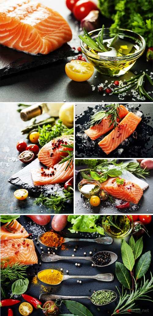 Fish with spices - stock photos