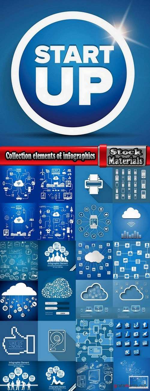 Collection elements of infographics vector image #12-25 Eps