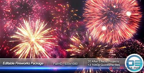 Editable Fireworks Package - Project for After Effects (Videohive)