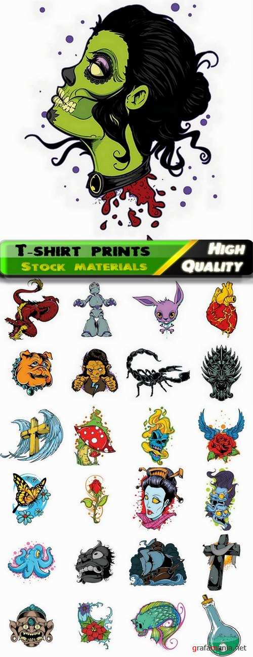 T-shirt prints design in vector from stock #33 - 25 Eps
