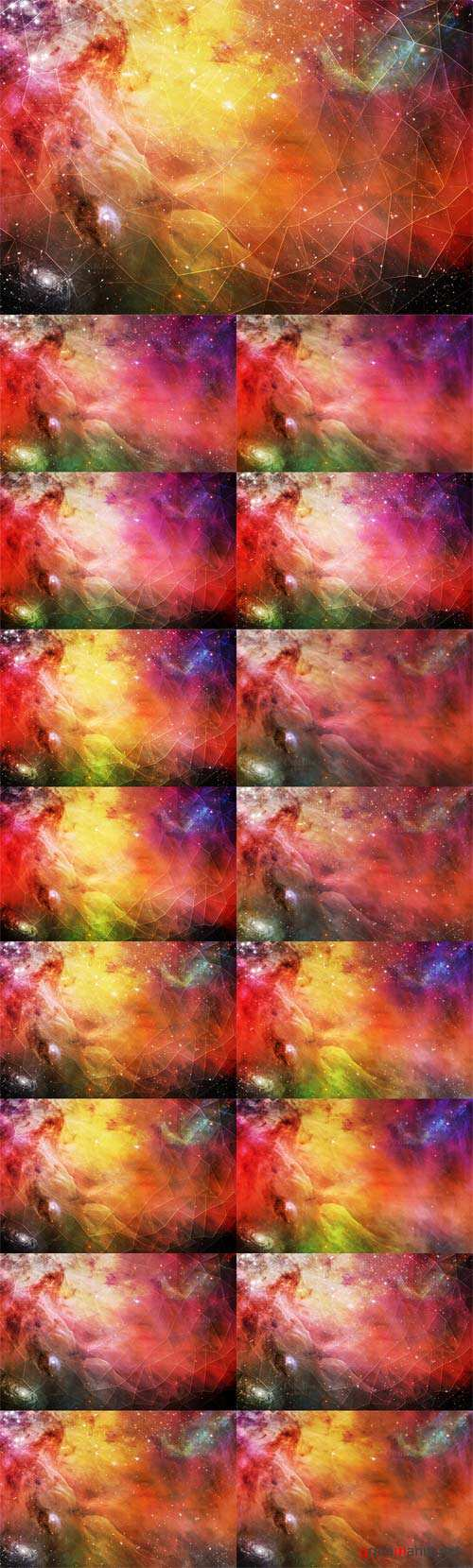 Colorful Space Geometry - Creativemarket 126134