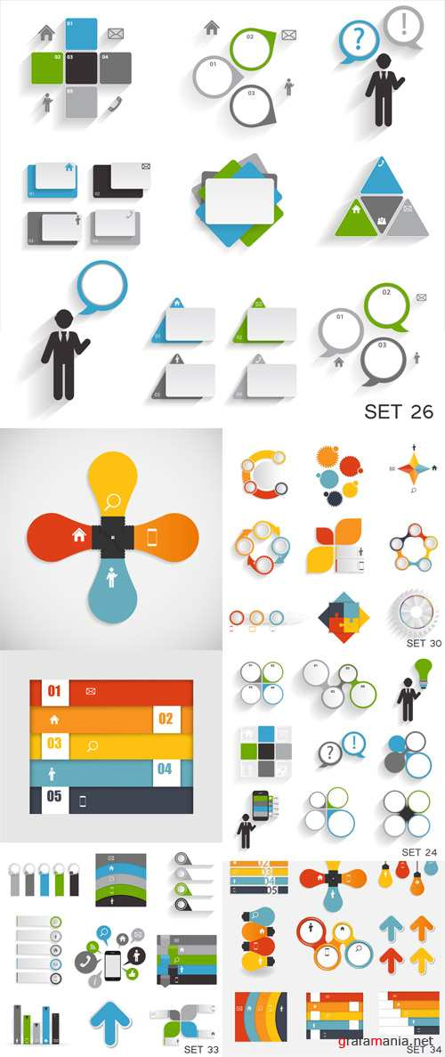 Vector Collection of Infographic Set 1