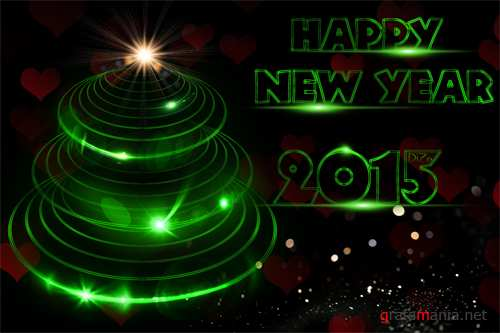 Happy New Year 2015 PSD source