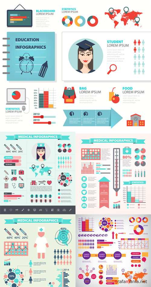 Vector Collection of Infographic Set 2