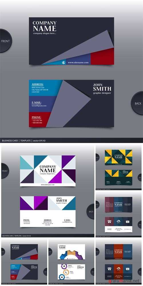 Business card, vector background with abstraction