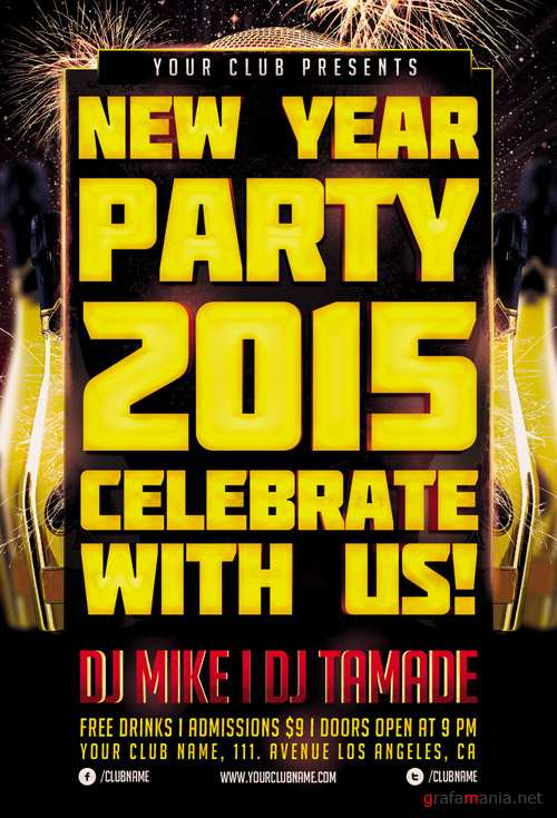 Flyer Template - New Year Party