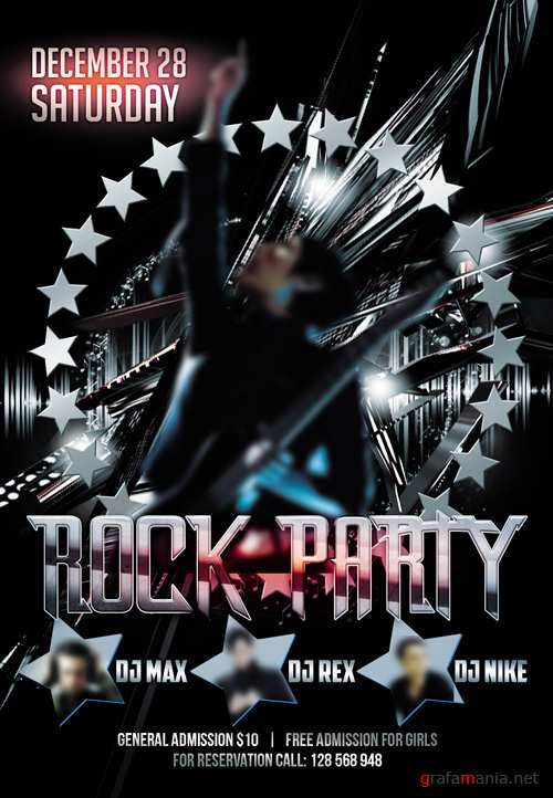 Flyer PSD Template - Rock Party