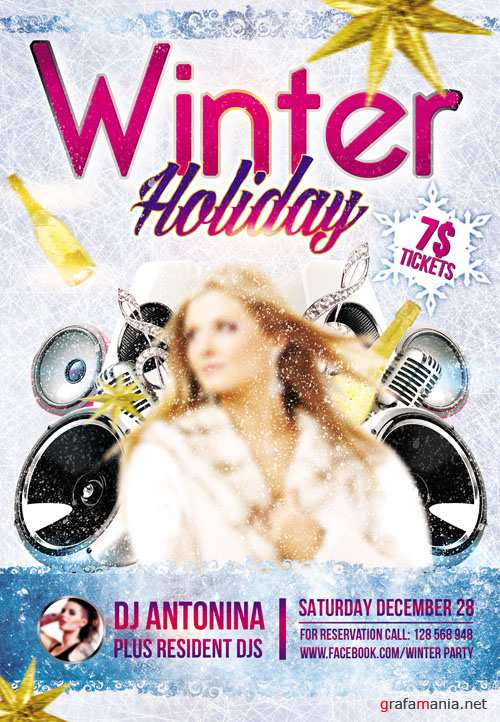 Flyer PSD Template - Winter Holiday