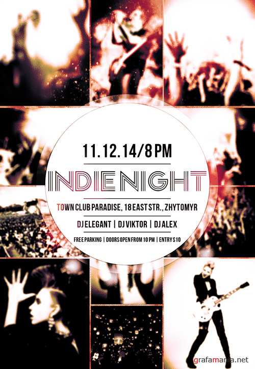 Flyer PSD Template - Indie Night
