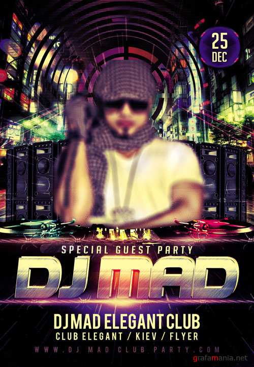 Fyer PSD Template - Special Guest Dj Mad