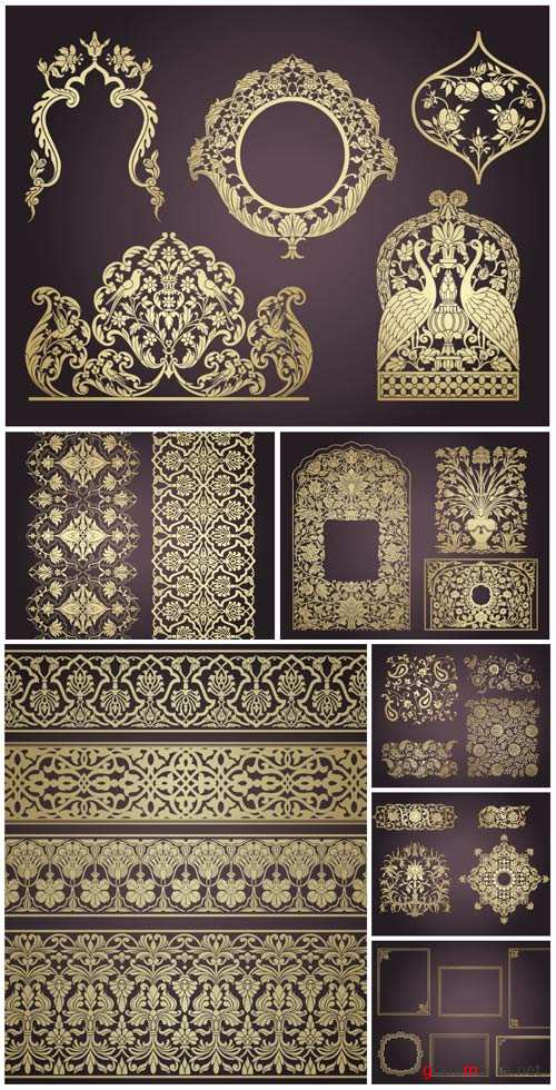 Indian ornaments and design elements vector